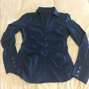 Express work shirt with ruched sides